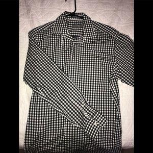 Button Down checkered shirt.
